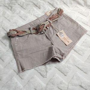 Wallflower Khaki Shorts with Belt F21